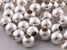 Bright SILVER Plated Metal SPACER BEADS 3mm by HalfPennyBoutique, $3.49  https://www.etsy.com/listing/117627793/bright-silver-plated-metal-spacer-beads
