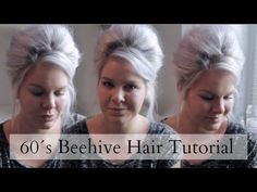 60´s Beehive Hair Tutorial ♡ Short and Long Hair | ShinyLipsTv - YouTube