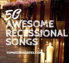 Recessional Songs for Your Wedding Need a little help when it comes to the music for your wedding? There's plenty of fabulous, upbeat songs to choose from if looking for recessional tunes. Wedding Ceremony Exit Songs, Wedding Recessional Songs, Reception Entrance Songs, Country Wedding Songs, Wedding Party Songs, Wedding Reception Music, Wedding Playlist, Wedding Blog, Wedding Ideas