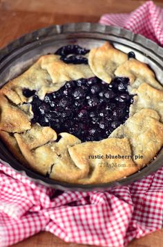 Rustic Blueberry Pie! In the Oven as I pin! :)  I doubled the filling recipe...