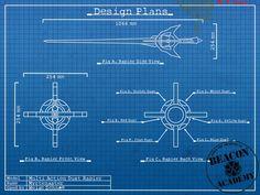 RWBY : Myrtenaster blueprints by crypticspider.deviantart.com on @deviantART