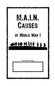 World War I - MAIN Causes Primary Source & Jigsaw Activity ...