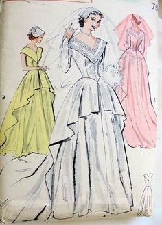 (¯`'•.♪♫Old Wedding Dresses