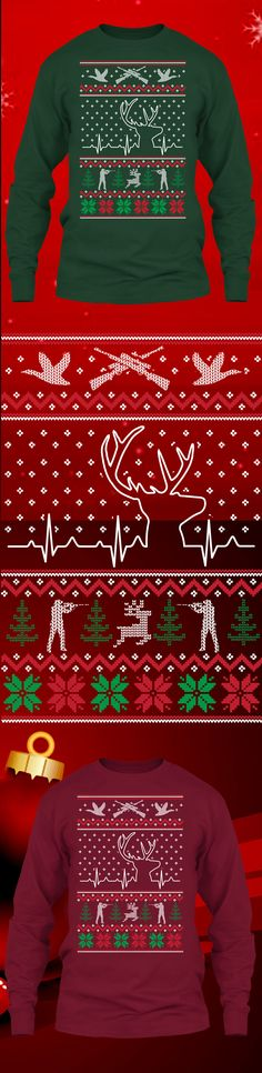 Hunting Heart Christmas Sweater - Get this limited edition ugly Christmas Sweater just in time for the holidays! Only 2 days left for FREE SHIPPING, click to buy now!