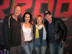 At the world famous KROQ in Los Angeles. Awesome crew!