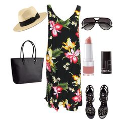 """""""Completed by H&M"""" on Polyvore #Fashion #WomensFashion #Women #Sundress #Dress #Polyvore #GetTheLook #HM #Cute #Style #Outfit #AffordableFashion"""