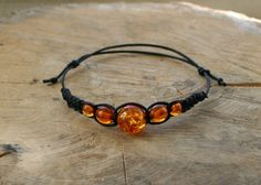 Amber Bracelet Handmade Affordable Adjustable Gemstone by TriouZ, £6.95
