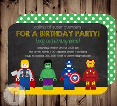 Avengers Birthday Invitation Thor Captain America Hulk Jpg 236x213 Lego Marvel Super Hero