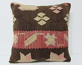 """Turkish cushion 18"""" sofa throw pillow kilim pillow cover decorative pillow case couch outdoor floor bohemian boho ethnic rustic accent 21785"""