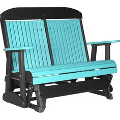 Poly Outdoor 4 Foot Highback Porch Glider Bench (White), Size Single, Patio Furniture (Polywood)