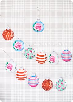 Free Printable Christmas Baubles - by Craft & Creativity