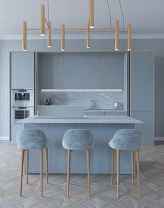 apartment in Odessa - Dezign Ark (Beta) Kitchen Room Design, Home Room Design, Modern Kitchen Design, Home Decor Kitchen, Kitchen Furniture, Interior Design Living Room, Home Kitchens, Furniture Design, Küchen Design