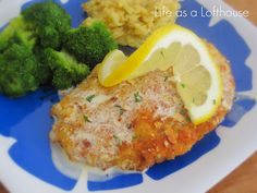Almond Crusted Chicken with Creamy Lemon Sauce - Life In The Lofthouse