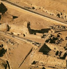 Sphinx from the air, Giza, Egypt