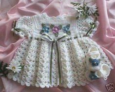2 Baby Dresses Crochet Patterns 009 015 by Rebecca Leigh 6 MO and 12 18 MO | eBay