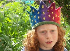 Waldorf Crown Rainbow Brights and stars by SusannaW on Etsy, $60.00