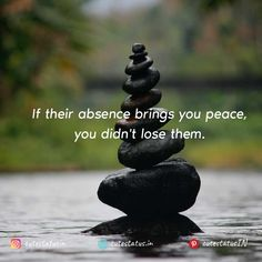 If their absence brings you peace you didn't lose them. #Life #LifeQuotes #LifeStatus #Peace #People #Lose