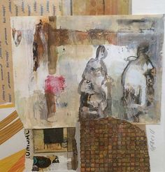 The little GALLERY of fine ARTS; The Artist's Studio by Paula McNeill  #artist #fineart #mixedmedia #abstract