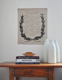 2012 CALENDAR   wall art by bookhouathome on Etsy, $12.00