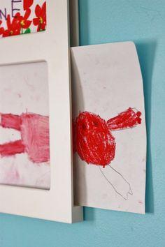 Kids Art Frames that make it super easy to display and change children's art