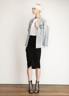 Zero + Maria Cornejo Long Spiral Skirt (Black)