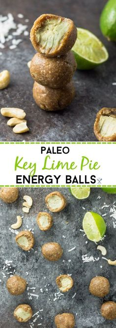 These paleo key lime balls are sweetened only with fruit, gluten free, and dairy free. A healthy treat to power through the day
