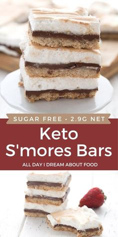 The classic summer treat gets a low carb makeover! These keto s'mores bars are like your best childhood memory in a delicious sugar-free package.