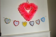 Simple yet beautiful valentine banner using scrapbook paper .. Kids will enjoy doin this