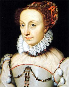 Jeanne d'Albret Queen of Navarre. Daughter of Henry II, King of Navarre and Margaret of Angouleme. Mother to Henry IV, King of France and Catherine, Hereditary Princess of Lorraine Mode Renaissance, Costume Renaissance, Renaissance Hairstyles, Renaissance Portraits, Renaissance Fashion, Renaissance Clothing, Italian Renaissance, 1500s Fashion, French History