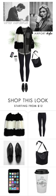 """""""my airport look"""" by helena99 ❤ liked on Polyvore featuring Anja, Chicwish, Vila Milano, AllSaints, Bottega Veneta, Off-White, airportstyle and shaggysweater"""