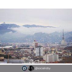 """""""Nuvole basse sulla collina di Torino"""" #Torino raccontata da socialroby per #inTO"""