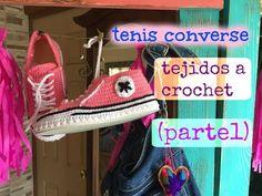 Tenis/Pantunflas Converse tejidos a Crochet  (parte1) - YouTube
