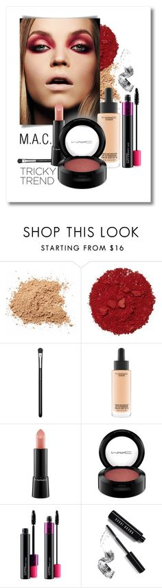 """""""Red & Nude : MAC Make-Up Look"""" by patricia-dimmick on Polyvore featuring beauty, Illamasqua, MAC Cosmetics, Bobbi Brown Cosmetics and redeye"""