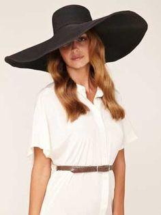 Kokin Large Floppy Beach Brim Hat - I want a huge floppy black hat so bad hahah