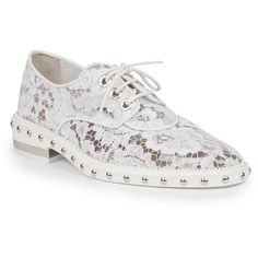 Givenchy Nika Studded Lace Derby Oxford Shoes ( 598) ❤ liked on Polyvore  featuring shoes 39f8d0d4605