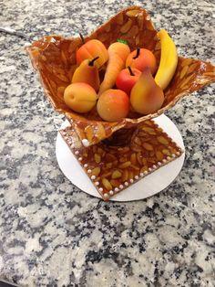 Marzipan and nougatine fruit basket