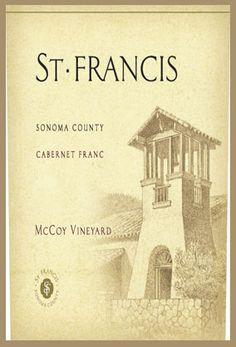 St. Francis  Winery & Vineyards  McCoy Vineyard  Sonoma County  Cabernet Franc 2006