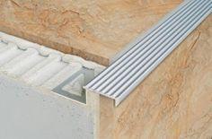 Non Slip Grooved Tread Stair Edge Step Nosing For Tiles- 2.5m - National Stair Nosings & Floor Edgings