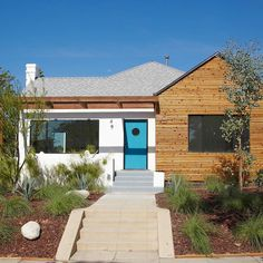 Before & After: Upgrading to Danish Modern in California, Design*Sponge Modern Exterior, Exterior Design, Exterior Houses, House Exteriors, Porch Kits, Building A Porch, Modern Ranch, Exterior Remodel, Garage Remodel