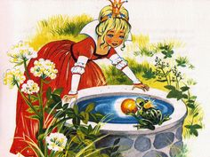 'The Frog Prince'  'The Golden Book of Fairytales' Collins Publishing, 1966,United Kingdom Illustration by Felicitas Kuhn