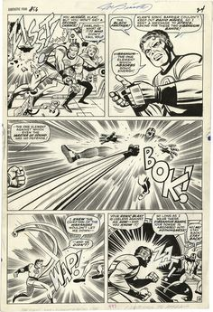 Mister Fantastic puts the smack down. Fantastic Four, Issue 56, 1966, Page 18, Jack Kirby