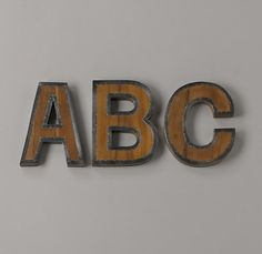 Letters for playroom wall.
