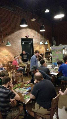 Hero's Crossing had a great showing at Triangle Game Night! We practically took over Oak & Dagger with 3 games going at once. Thanks to everyone who showed up! #tabletop Triangle Game, Game Night, Tabletop, Board Games, Hero, Table, Tabletop Games, Countertop, Table Games