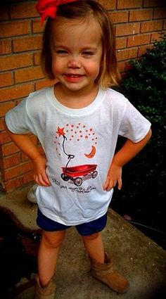 Hitch Your Wagon to a Star toddler t-shirt! Too cute!