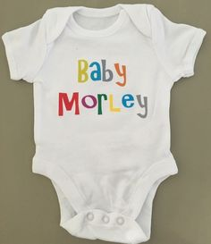 PERSONALISED unisex baby clothing vest babygrow great baby shower gift ANY NAME