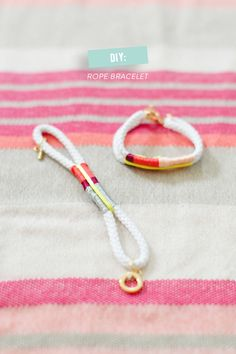 #bracelets, #diy, #kids, #art-projects, #crafting, #rope Photography: Ruth Eileen - rutheileenphotography.com Read More: http://www.stylemepretty.com/living/2014/08/12/banana-split-cake/