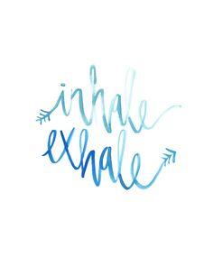 Watercolor Inhale Exhale Print | Mermaid Art | Beach Wall Art | Beach Home Decor | Boho Chic | Bohemian | Inspirational Art | Mermaid Vibes | Good Vibes Only | Positive Thinking | Meditation | Yogi | Yoga