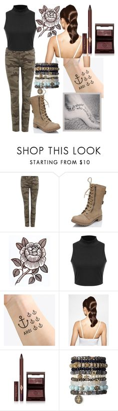 """If I Was In The Last Ship"" by kee199905 ❤ liked on Polyvore featuring True Religion, Soda, NAVUCKO, Hershesons and Charlotte Tilbury"