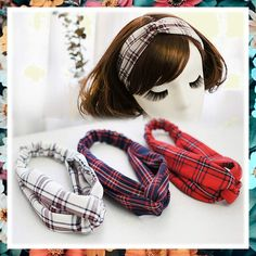 Women's Headbands British College Style Cross Head Wrap Elastic Boho Plaid Hair Band Accessories Sports Hair Band (A) (This is an affiliate pin) #haircare Headband Wigs, Headband Styles, Women's Headbands, Fashion Headbands, British College, College Fashion, College Style, Sport Hair, Plaid Fabric