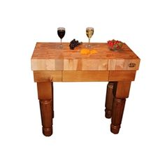 x Michigan Maple Gathering Block with Maple Base and turned legs, handcrafted by McClure Tables. Butcher Block Kitchen, Butcher Block Top, Kitchen Island Cart, Kitchen Islands, Maple Kitchen, Butcher Knife, Made In America, Wood Species, Furniture Making
